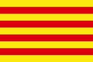 Vlag Catalonië - busreizen europa.eu